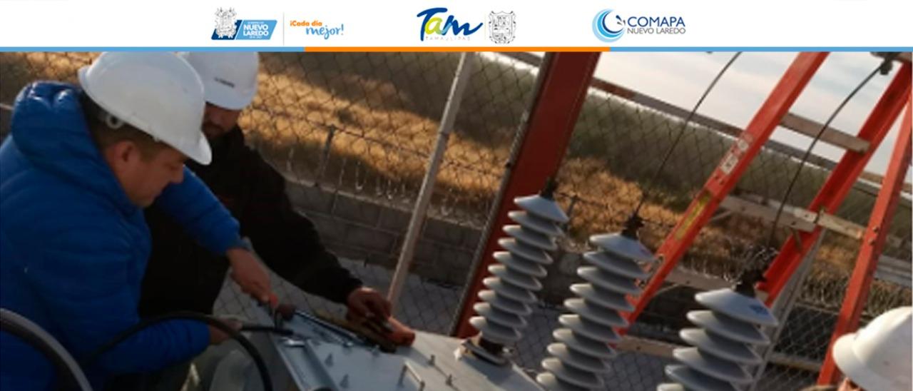 Da Comapa mantenimiento a la subestación eléctrica de tanque