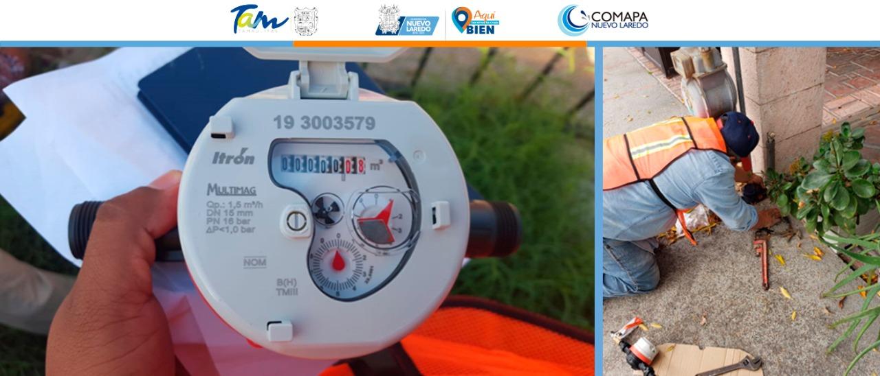 Retira la Comapa medidores dañados; instala 6 mil equipos nuevos sin costo