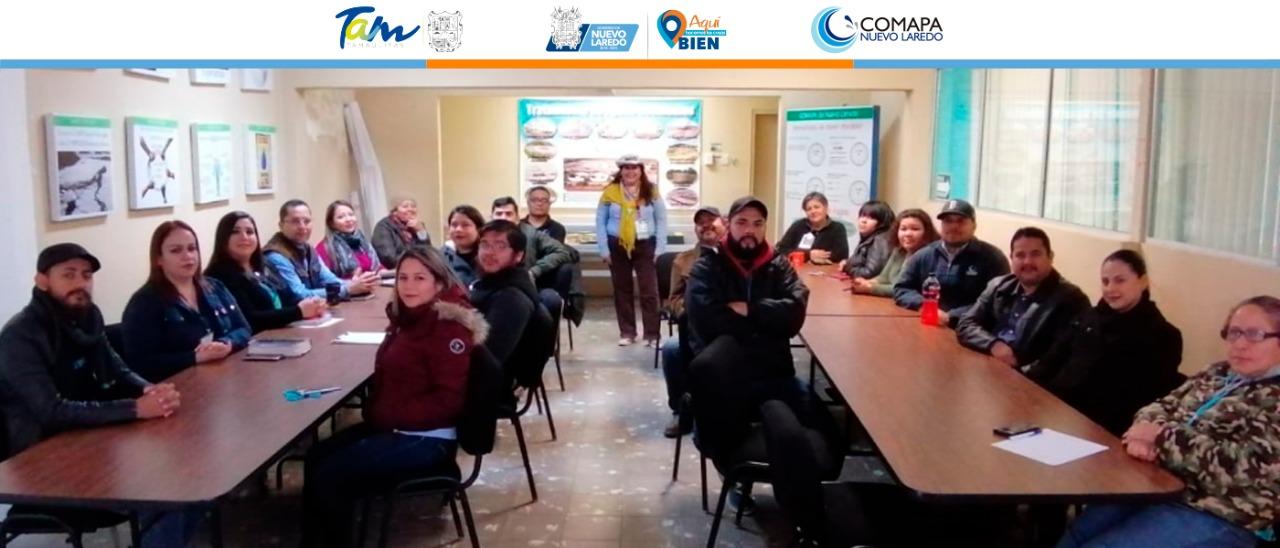 Favorece COMAPA agenda del INEGI;  capacitan a personal de planta centro