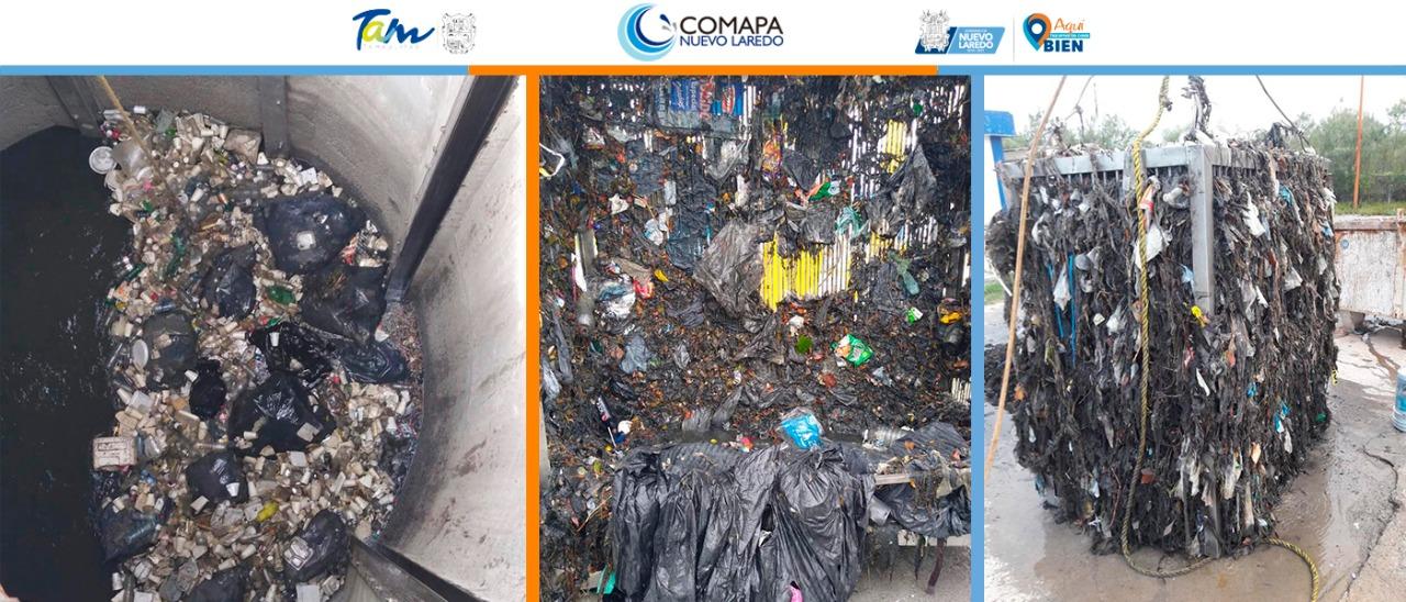En una semana COMAPA retira 8 toneladas de basura.