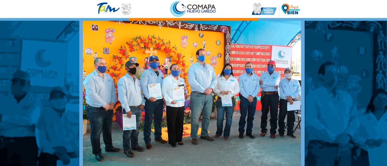Jubila COMAPA 6 empleados más