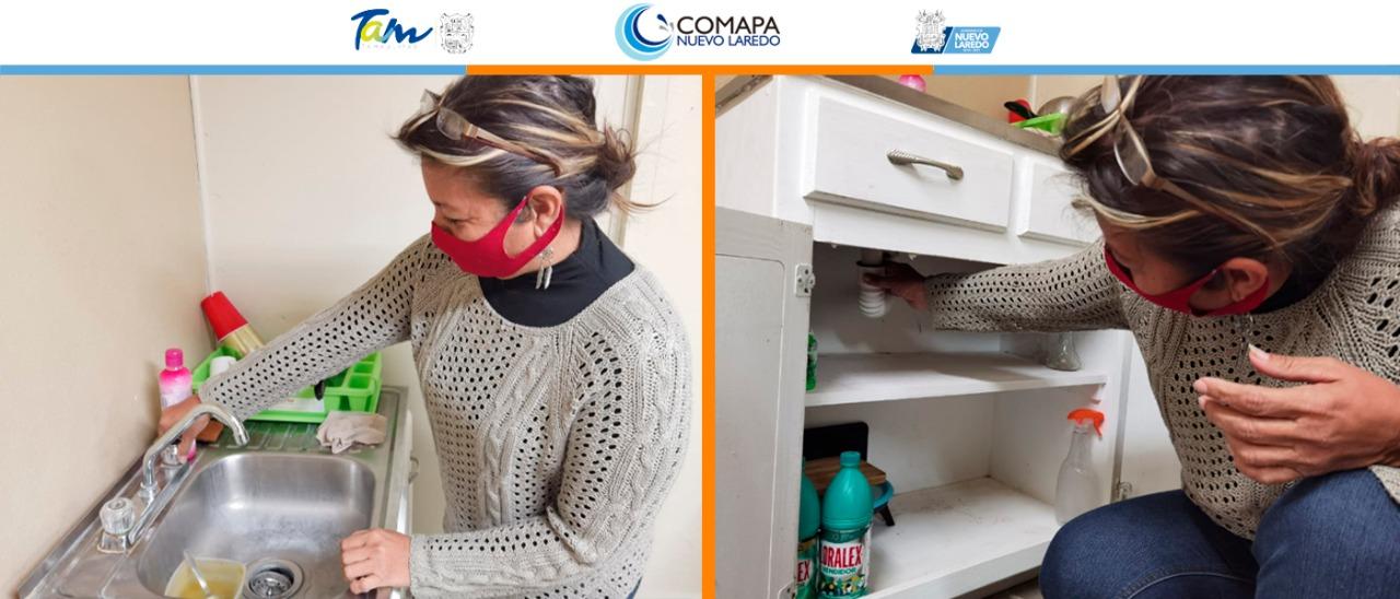 COMAPA invita a la ciudadanía a prestar atención a fugas de agua en casa